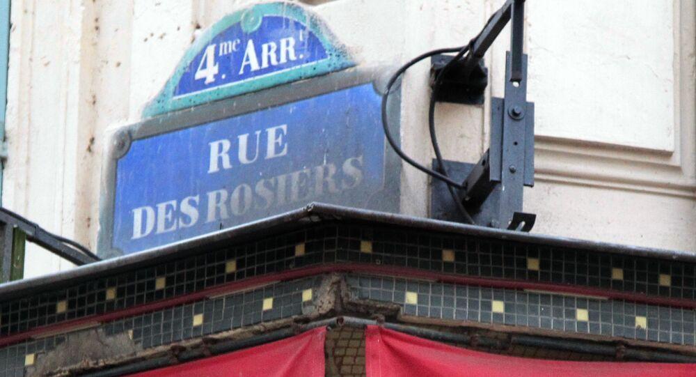 Rue des rosiers à Paris