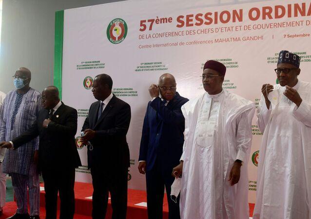 Les chefs d'État de la Cedeao réunis en pour la 57e session ordinaire de la Cedeao