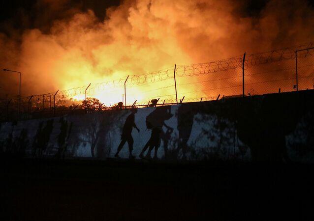 Incendie du camp de Moria