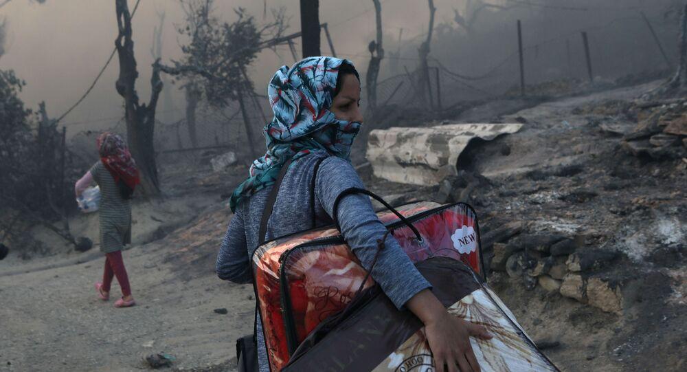 incendie du camp de réfugiés Moria sur l'île grecque de Lesbos