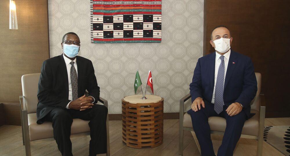 Mevlut Cavusoglu avec Pierre Buyoya