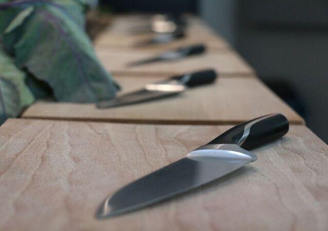 Un couteau de cuisine, image d'illustration