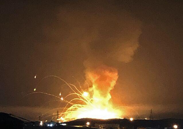 une explosion dans un dépôt militaire de munitions en Jordanie