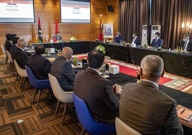 Nasser Bourita, le ministre des Affaires étrangères marocain à Bouznika (Maroc)
