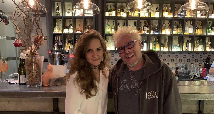 Lors de l'interview avec Rick Allison à Moscou
