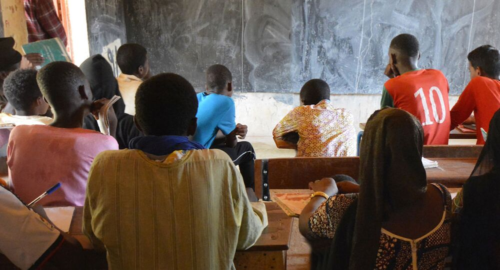 Une salle de classe au Mali