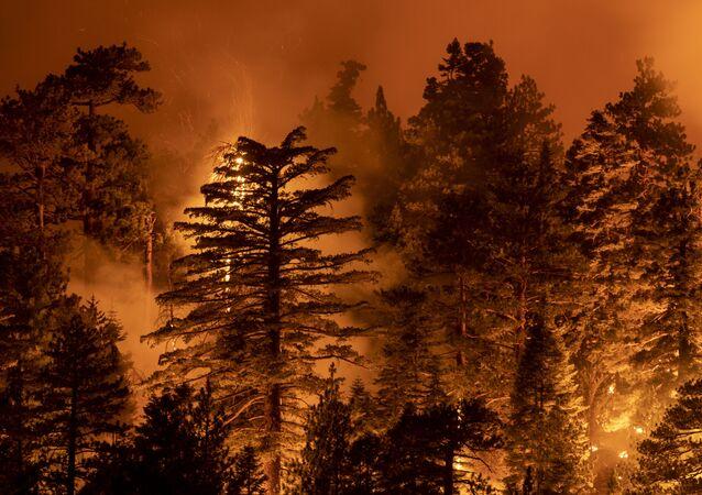 Un incendie en Californie