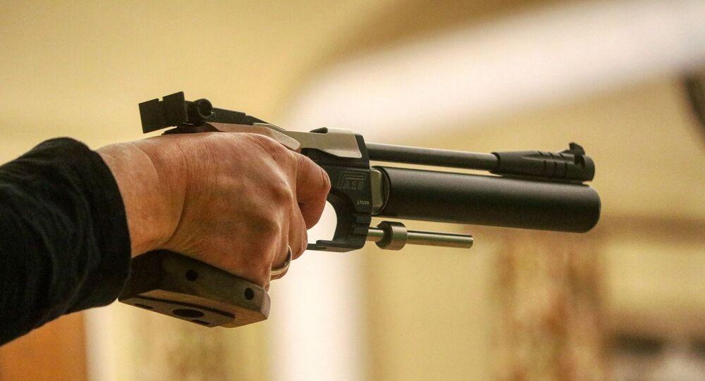 Un pistolet à air comprimé