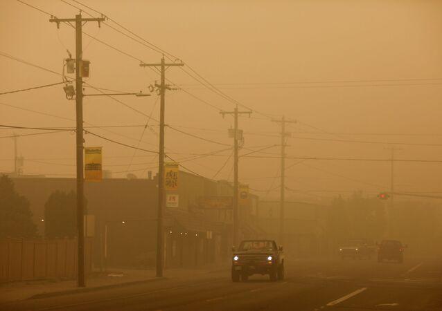 Oregon en proie aux incendies de forêt, le 11 septembre 2020