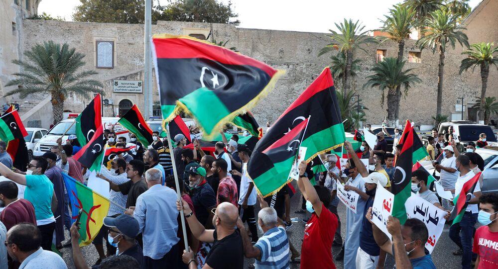 Manifestation anti-gouvernementale à Tripoli