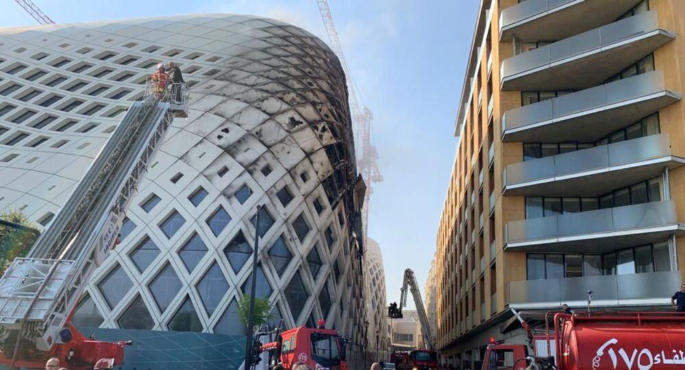Nouvel incendie à Beyrouth, un quartier commerçant touché, le 15 septembre 2020