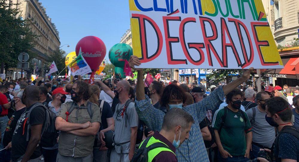 Manifestation interprofessionnelle à l'appel des syndicats à Paris