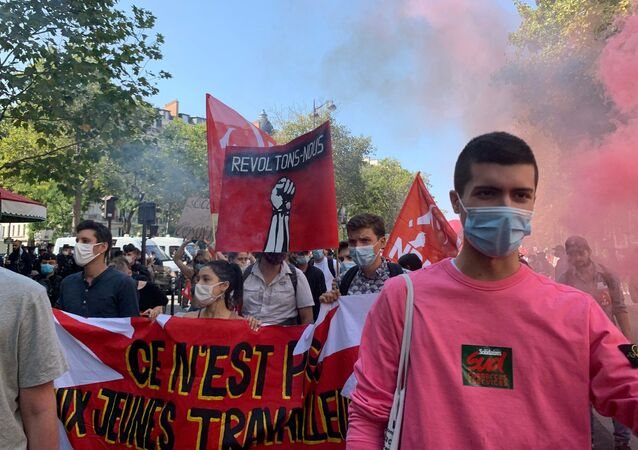 Manifestation interprofessionnelle à l'appel des syndicats à Paris, 17 septembre 2020
