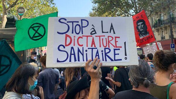 Manifestation interprofessionnelle à l'appel des syndicats à Paris, 17 septembre 2020 - Sputnik France