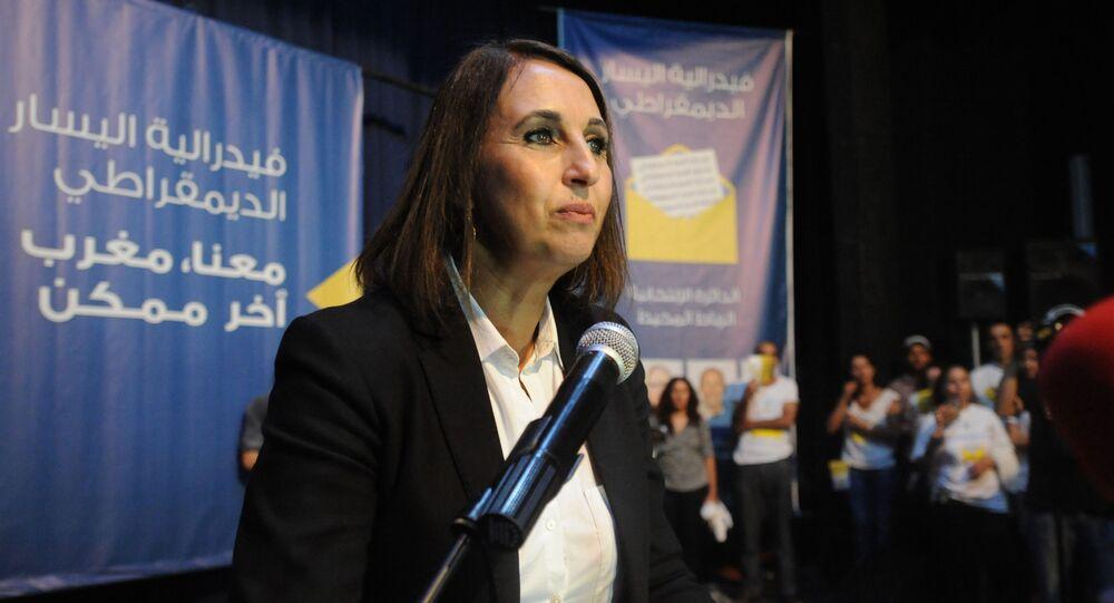 Nabila Mounib, cheffe de la Fédération de la gauche démocratique marocaine