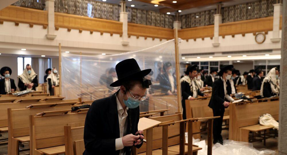 un synagogue de Jerusalem le 18 september 2020
