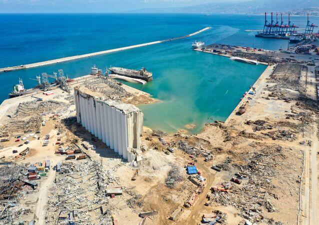 l'explosion dans le port de Beyrouth provoquée par le nitrate d'ammonium