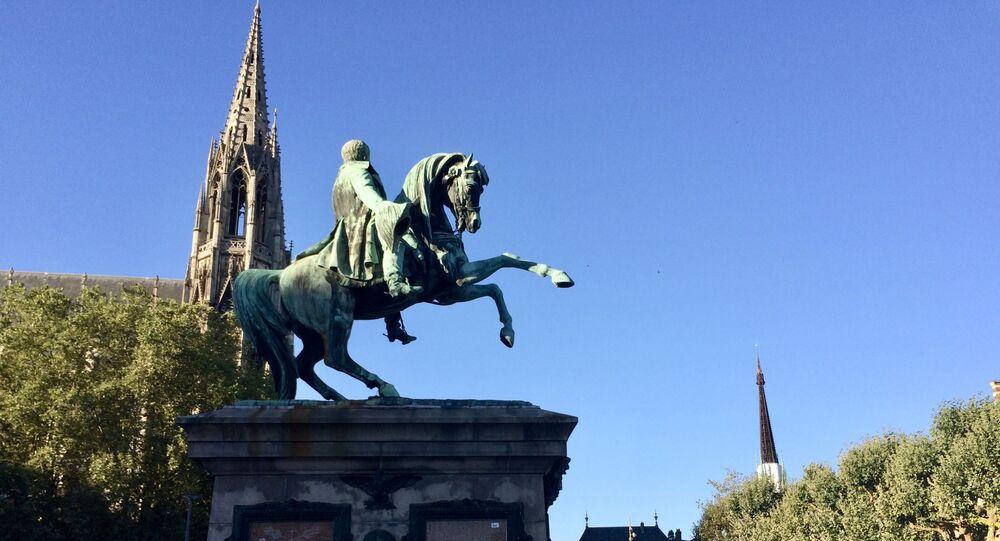 Statue équestre de Napoléon à Rouen