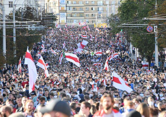 Marche à Minsk