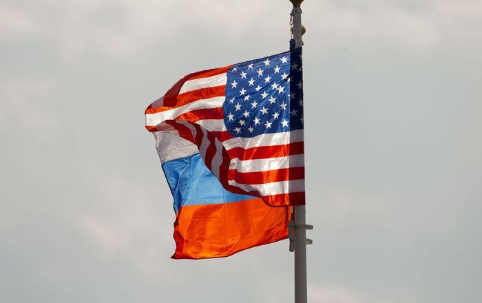 Les drapeaux russe et américain (photo d'archives)