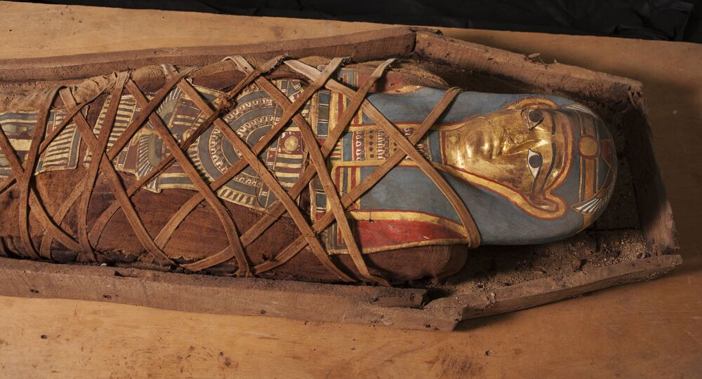 une momie découverte dans l'oasis du Fayoum
