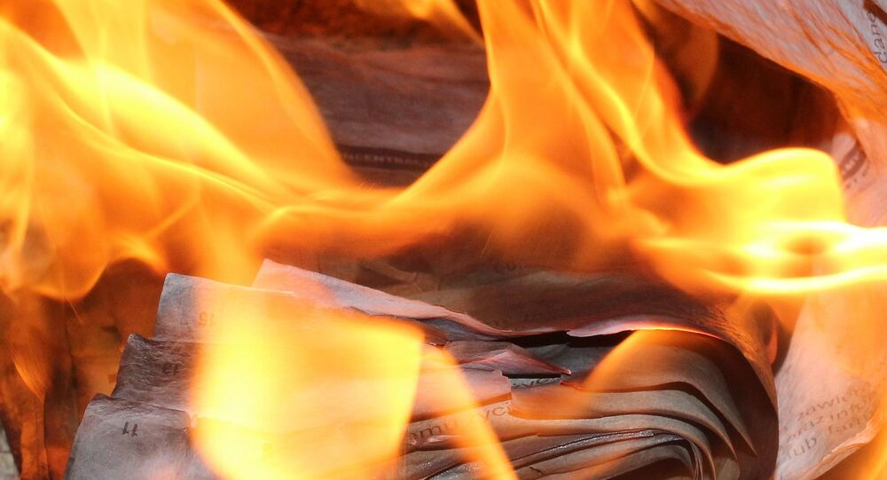 Papier enflammé
