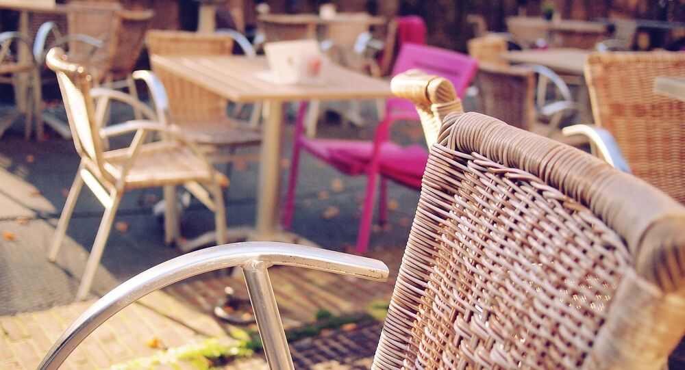 Terrasse d'un café