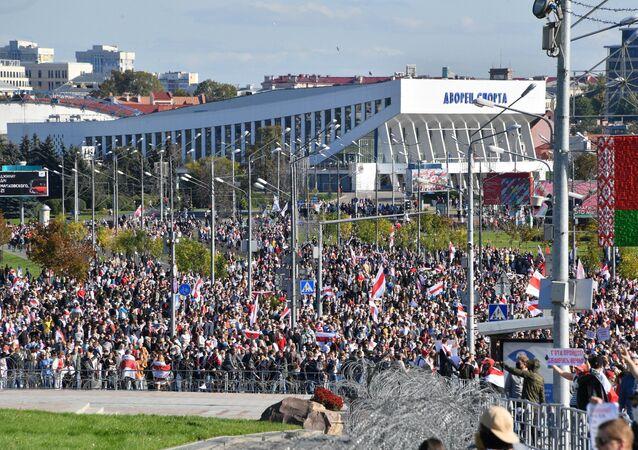 Manifestation à Minsk