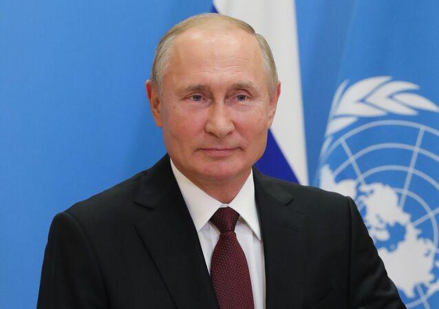 Vladimir Poutine lors de la 75e session de l'Assemblée générale de l'Onu