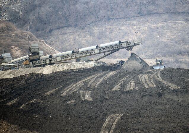 Site minier d'une compagnie canadienne au Mexique, mai 2019 (image d'illustration)
