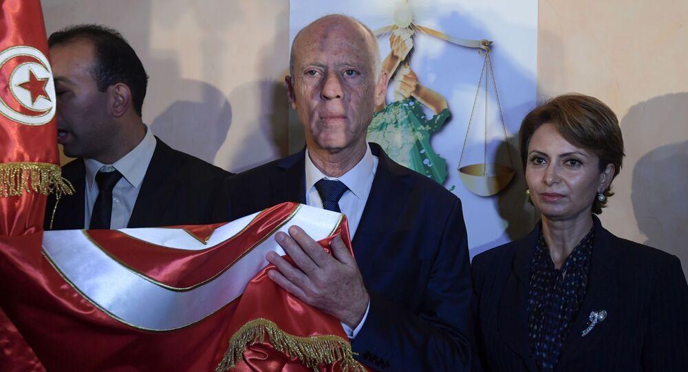 Ichraf Chebil Saïed et Kais Saïed