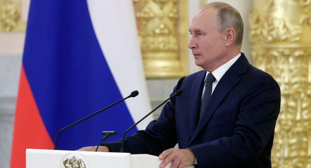 Vladimir Poutine, le 23 septembre 2020