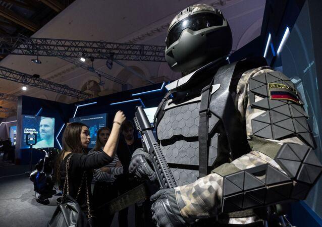 exosquelette militaire élaboré par Rostech