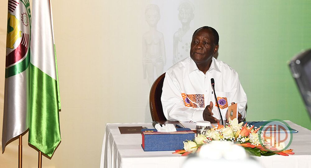 Le Président Ouattara clôture sa visite d'État dans la Marahoué par une conférence de presse (Bouaflé, le 26/09/2020)