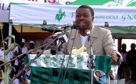 Faure Gnassingbé, le Président du Togo, en campagne