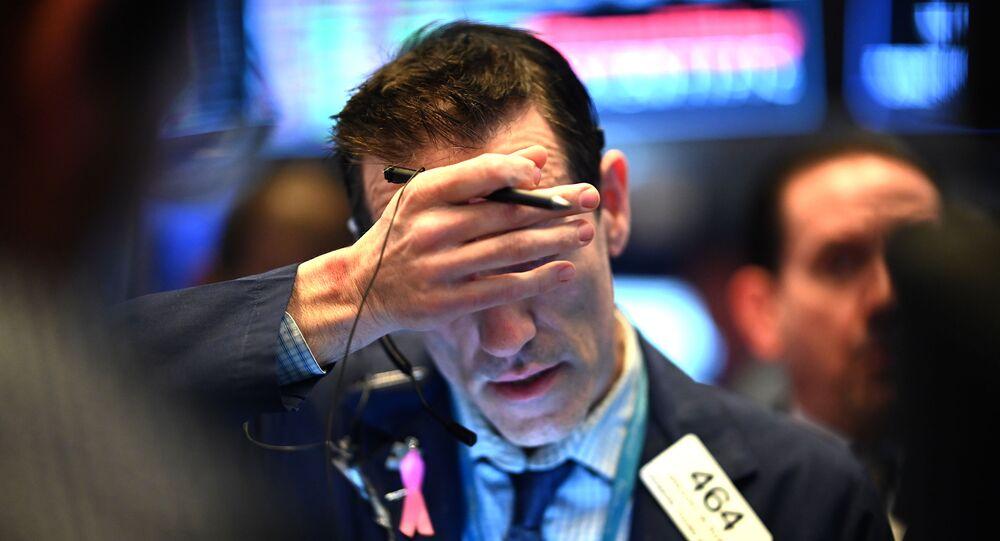 Un trader à la Bourse de New York