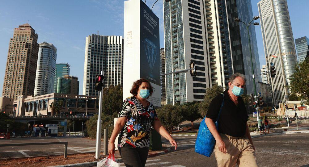 Une rue de Tel Aviv pendant la pandémie de Covid-19