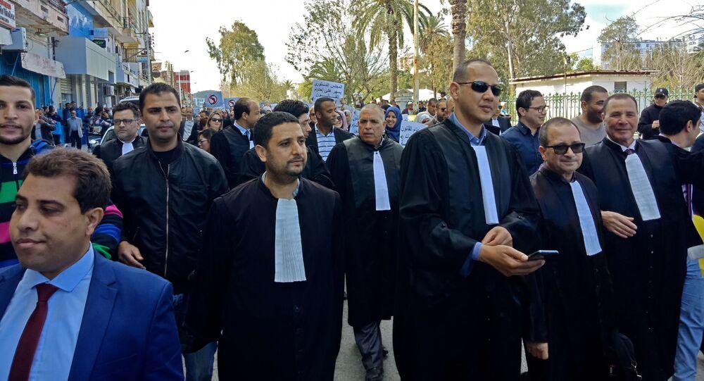 Une manifestation d'avocats en Algérie
