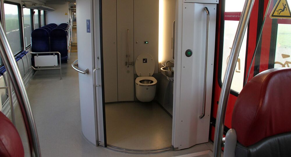 Toilettes d'un train (image d'illustration)