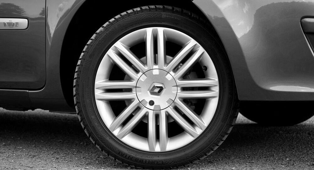Une roue d'une voiture