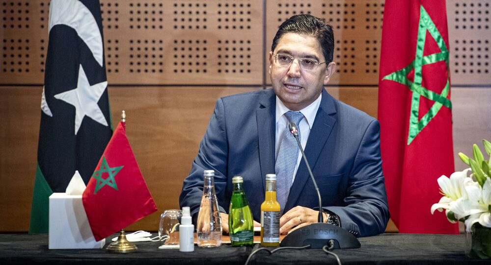 Nasser Bourita, ministre des Affaires étrangères marocain, lors de la première réunion à Bouznika sur la crise interlibyenne, le 6/09/2020.