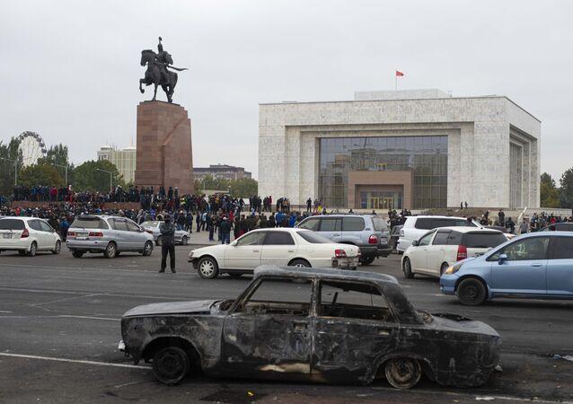 Situation dans les rues de Bichkek