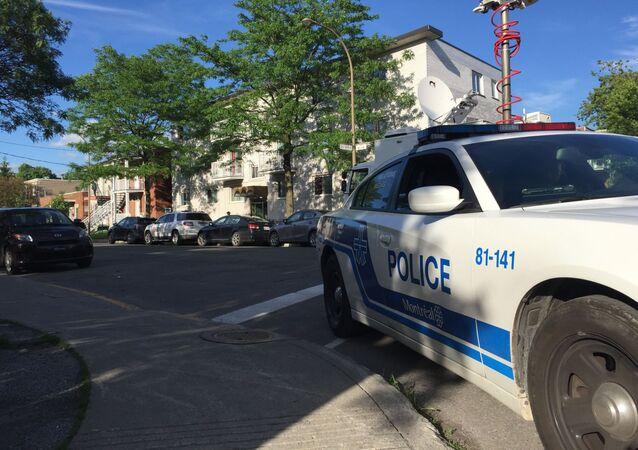 Une voiture de police à Montreal