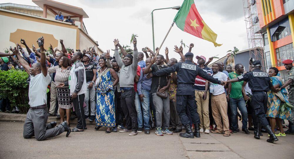 Des partisans de Maurice Kamto dans la rue, Cameroun