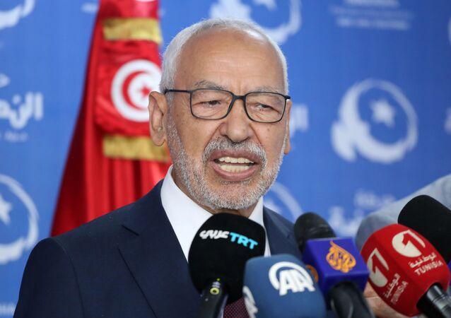 Rached Ghannouchi, leader du parti islamique tunisien Ennahda.