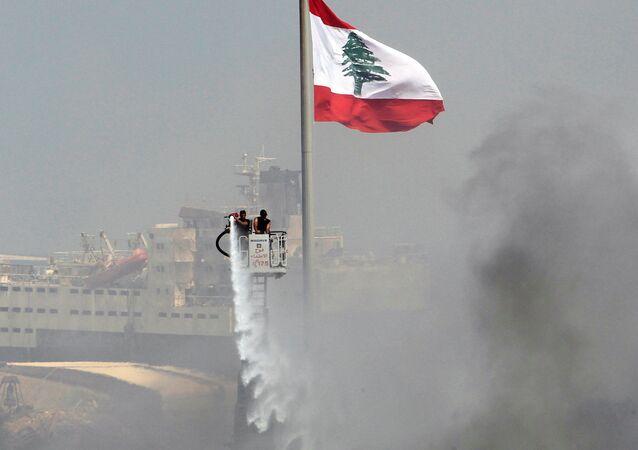 Incendie à Beyrouth. Image d'illustration