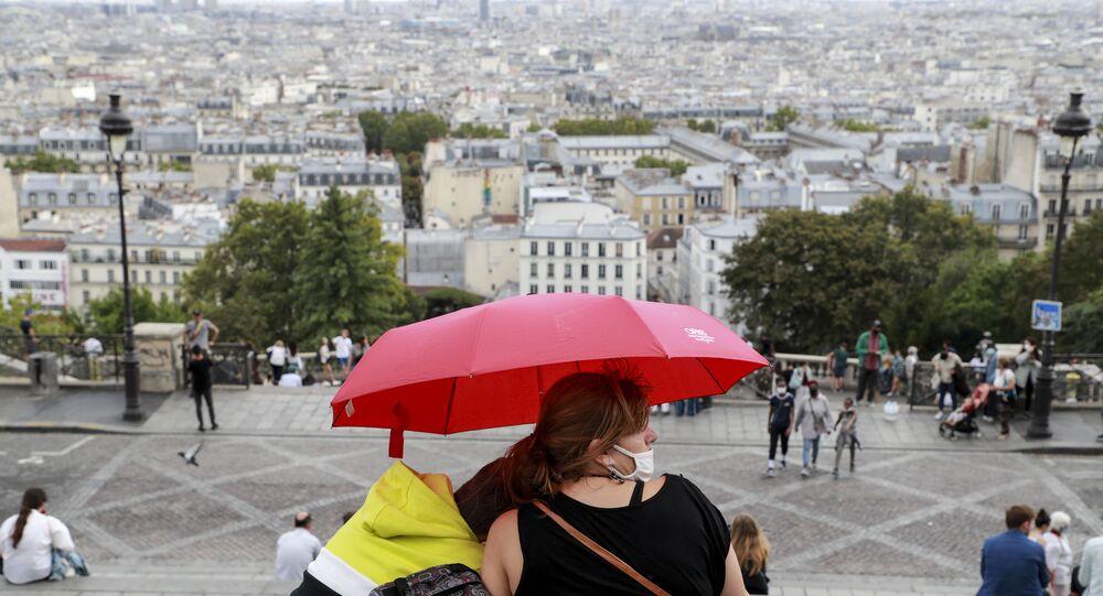 près de la basilique du Sacré-Cœur à Paris
