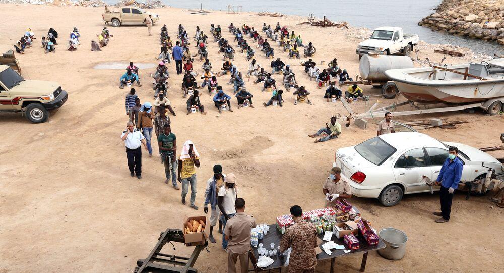 Des migrants interceptés en Libye