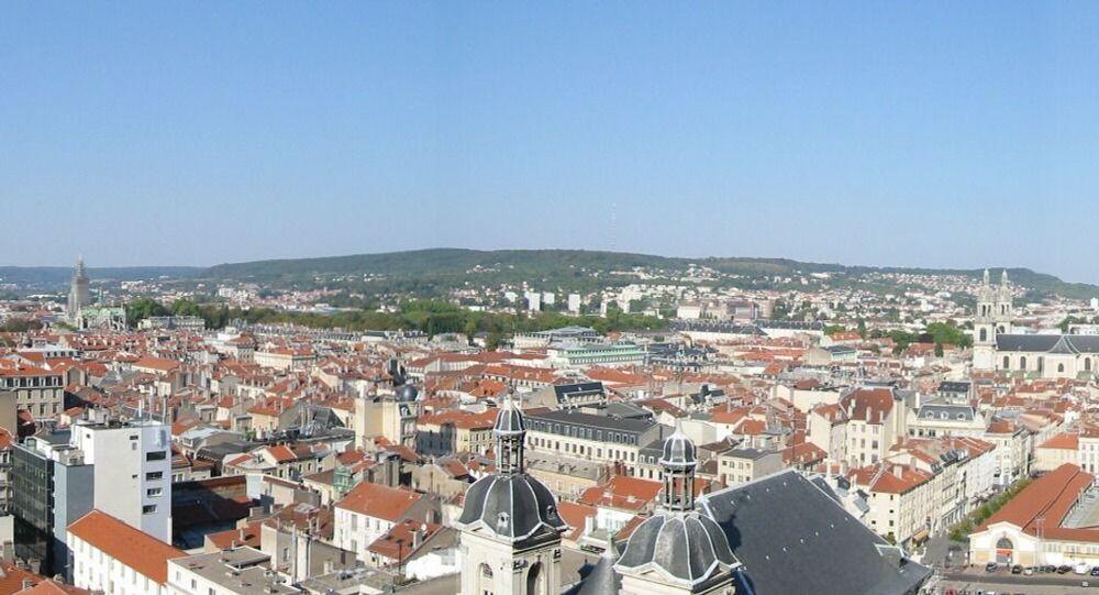 Panorama sur le centre ville de Nancy, Lorraine, France (depuis les tours Saint-Sébastien)