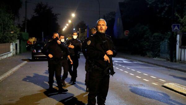 La police sur les lieux de l'attaque à Conflans-Saint-Honorine, le 16 octobre 2020 - Sputnik France